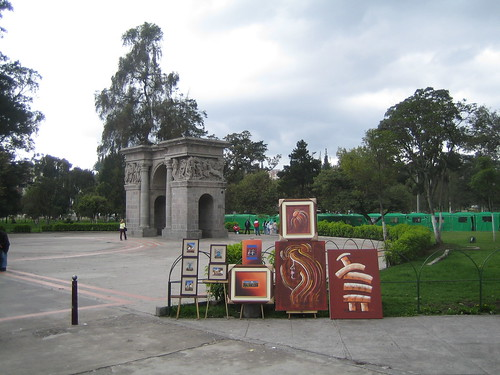 Art in the downtown park