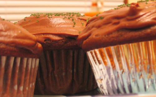 mocha cupcakes with chocolate buttercream icing