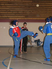 Me in action with a front kick