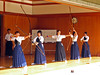 Kyudo girls going through the motions