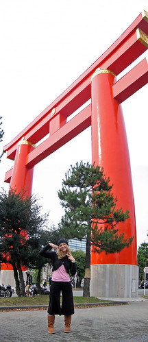 hangin' tough at the giant torii