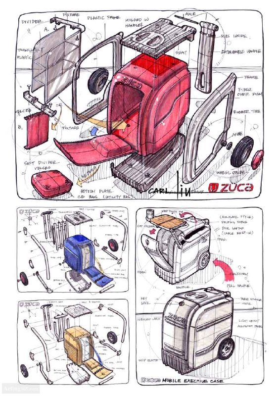 工业产品马可笔手绘图