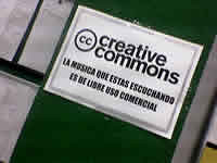 Local con musica creative commons
