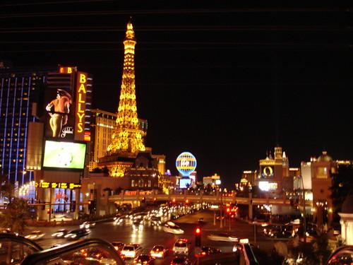 vegas strip at night. Vegas strip by night