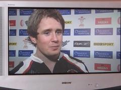 Shane Williams yn siarad ar ôl buddugoliaeth Cymru dros Awstralia yn y rygbi