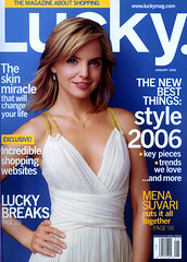 lucky magazine january 2006 cover