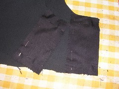 interfacing pinned on