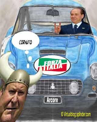Berlusconi automobilista cornuto