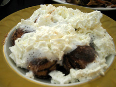 apple ebelskivers with whipped cream