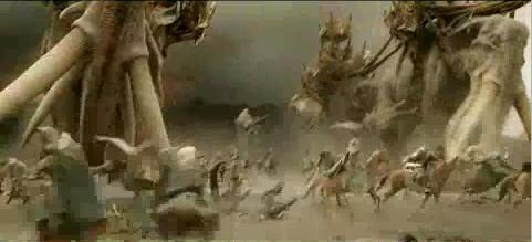 Mumakils playing with horses