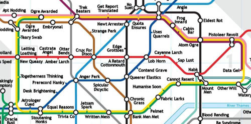 London Underground Anagram Map