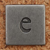 Pewter Lowercase Letter e