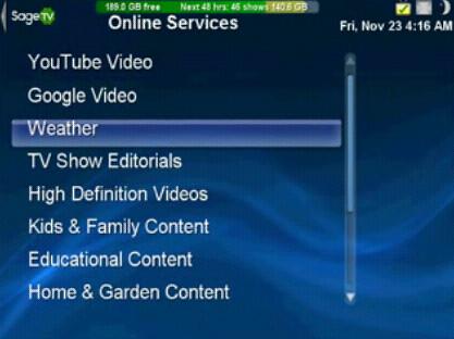 SageTV Video