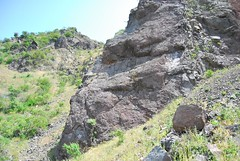 8a. Basalt flow Photo