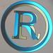R in circle