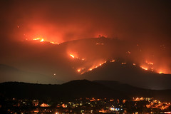 Mt. San Miguel continues to burn.  San Diego wildfires. photo by slworking2
