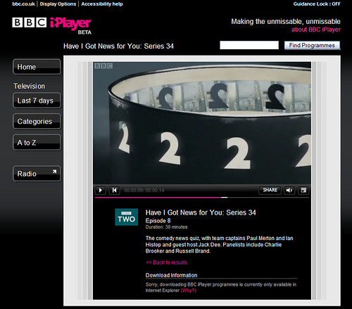 BBC iPlayer - now with streaming