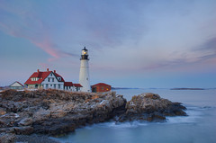 Portland Head Light After Sunset photo by brentdanley