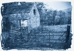Barn Cyanotype (Fake)