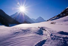 Sun kisses Mountain photo by 8#X