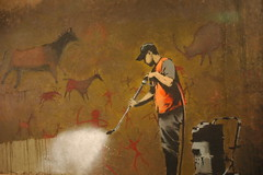 Banksy - cave painting photo by badjonni