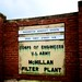 McMillan Filter Plant Sign
