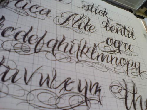 riuworldanlo tattoo fonts script alphabet