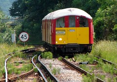 Islandline Train approaching Sandown Station Isle of Wight photo by BOB@ wootton