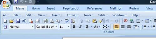 menu tab