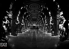 One Point Perspective of the Sanctum photo by Bhargavii Mani