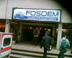 FOSDEM 08 entrance