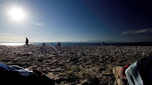 My feet in the sun