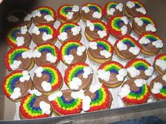 Rainbow Birthday Cupcakes photo by Lucky Penny Cakes
