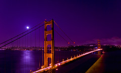 Full Moon Meets the Golden Gate Bridge photo by zpgoodell