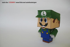 paper toy - luigi photo by saulo dias |designer|