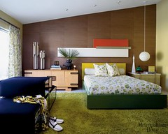 1960s Palm Springs mid-century modern bedroom, from Met Home photo by Room Lust