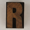 wood type letter R