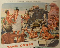 1940s WORLD WAR 2 Cannon Towels Advertisement Campy Queer Gay Vintage Illustration Shirtless Nude photo by Christian Montone