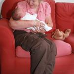 Granny has a cuddle<br/>26 Jul 2009