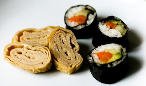 Tamagoyaki and Sushi