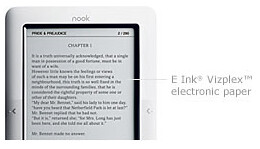 Nook eReader Main Display