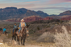 Horseback Riding at Sunset in Red Rock Canyon Near Las Vegas(Explore!) Thank you all photo by Jim an' I'm the 'Real McCoy'
