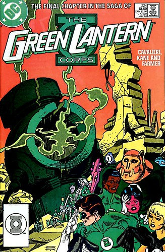 Green Lantern 224 final issue cover by Gil Kane