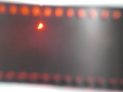 Partial eclipse of the sun (through the nagative film)