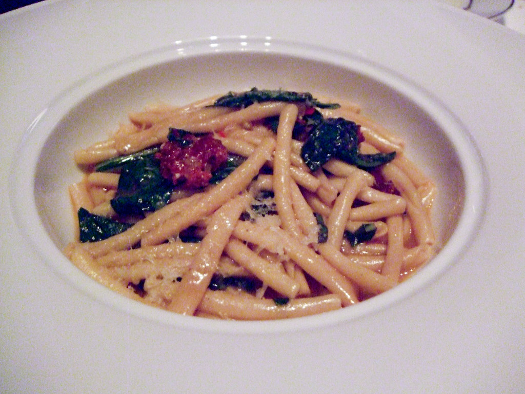 Pasta with Sausage and Mint, Alto
