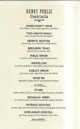 henry-public-cocktail-menu