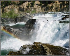 Kootenai Falls, Montana, Wild River Waterfall photo by moonjazz