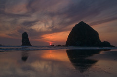 Sunset at the Oregon coast photo by nwprophoto
