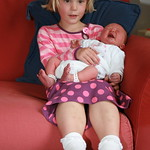Having a cuddle with my little Sister<br/>26 Jul 2009