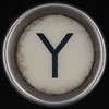 typewriter key letter Y